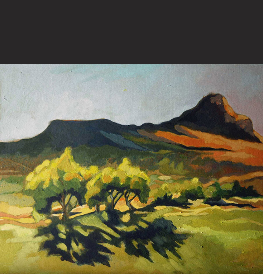 "Plein Air Painting - ""Palo Verdes At Sunset"""