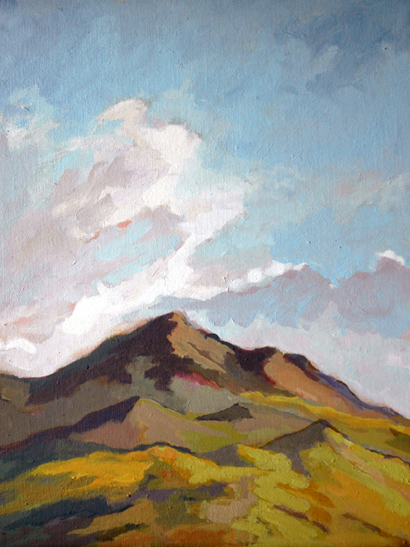 "Plein Air Painting - ""Watching The Summer Clouds"""